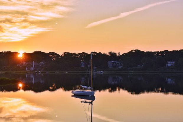 Martha's Vineyard Sunrises Lagoon Pond Sailboat