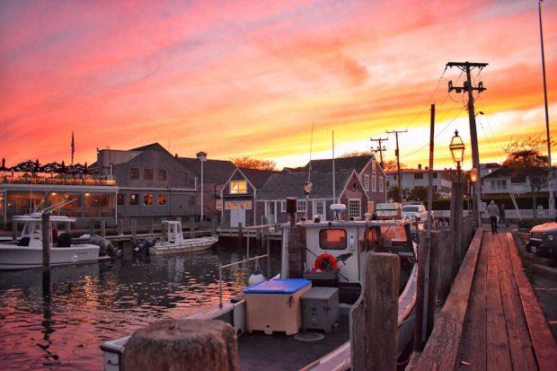 June On Martha's Vineyard sunset in Edgartown